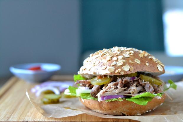burger szarpana wieprzowina pulled pork / cosbymzjadla.com