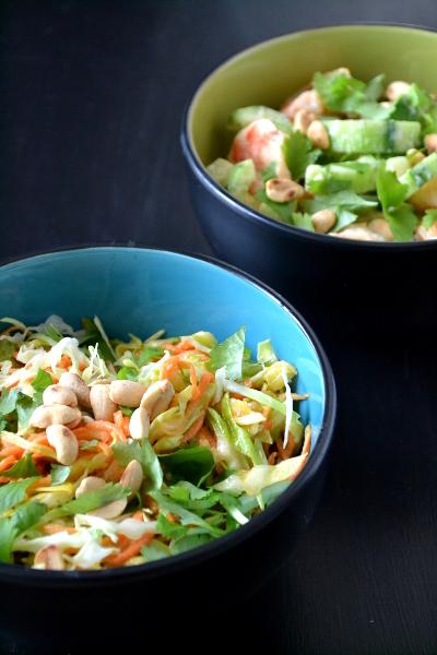 Sałatki tajskie z sosem z masła orzechowego / cosbymzjadla.com