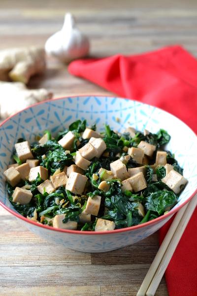 Tofu ze szpinakiem / cosbymzjadla.com
