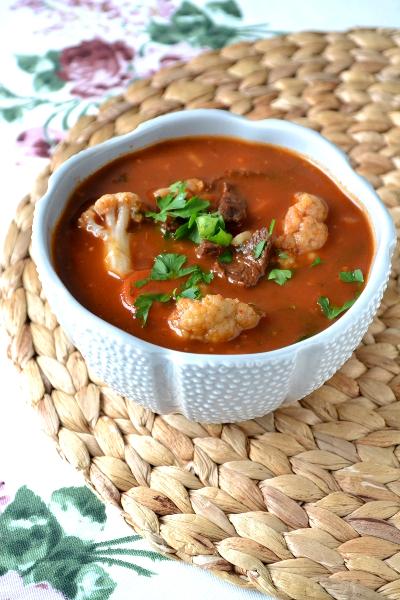 arabska zupa z kalafiora / cosbymzjadla.com